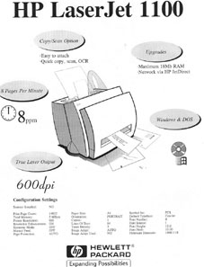 Perfect HP LaserJet 1100 test page
