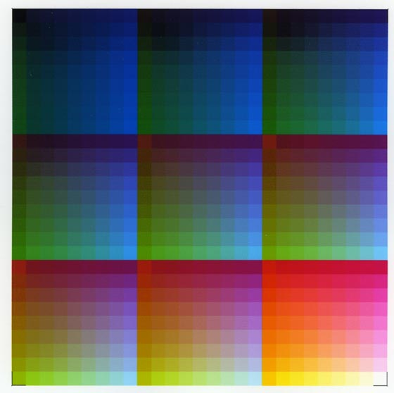 Calibration chart with poor color reproduction