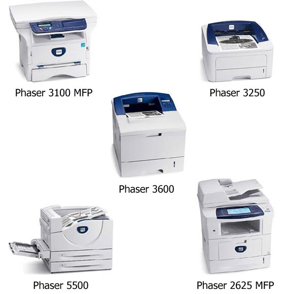 Xerox new 5 printers and MFPs